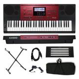 Teclado Musical Arranjador Casio Ctk 6250 Suporte Capa Luxo