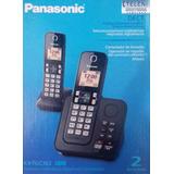 Telefone Bloqueador S fio Panasonic 2 Bases Secretaria v voz