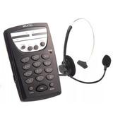 Telefone Headset Maxtel Mt 108 Atendimento Em Telemarketing