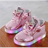 4b5232b2611 Tenis Infantil Hello Kitty Rosa Com Led