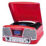 Toca Disco Harmony Raveo Grava Bluetooth cd fm usb Vitrola