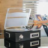 Toca Discos De Vinil E Fita Cassete K7 Com Conversor Digital