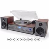 Toca discos Aria Raveo Sistema Hi fi Cd Player Usb Bluetooth