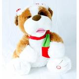 Urso Pelúcia Natalino Eletrônico Cachorro Dança Canta Natal