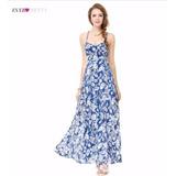 Vestido Estampado Azul Floral Importado Ever Pretty