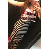 Vestido Longo Listras Com Fenda   Tamanho G