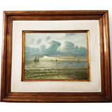 Vicenzo Cencin   Quadro Pintura Ost   Marinha Assinado 66x56