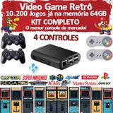 Video Game Retrô   Kodi   10 000 Jogos   4 Controles   64gb