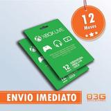 Xbox Live Gold 12 Meses Xbox One E 360   Cartão 25 Dígitos