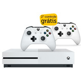 Xbox One S 1tb Branco 2º Controle Sem Fio Branco Grátis M